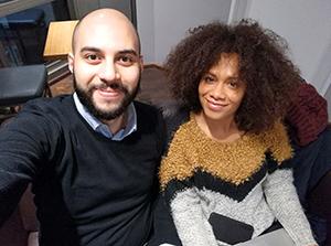Georgina Fakunmoju und Ahmad Alrifaee. Foto: privat