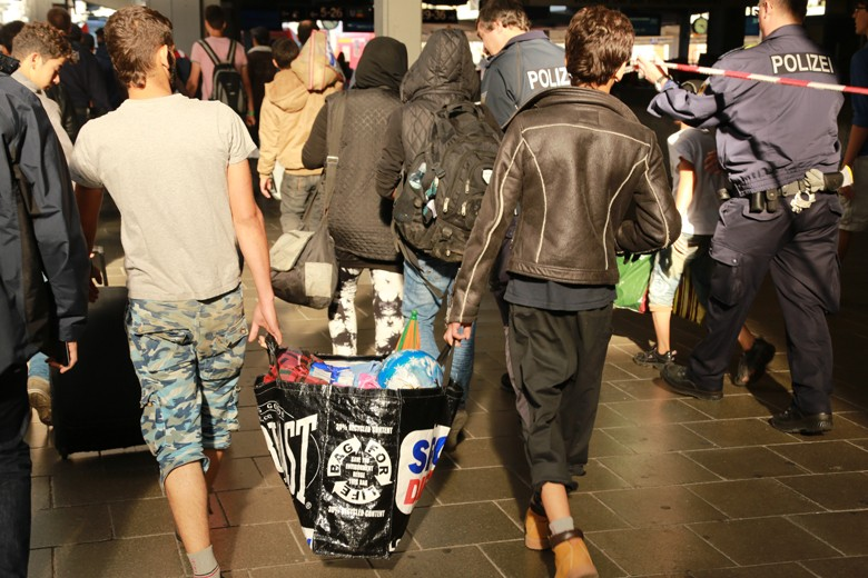 Migrants at September 13th 2015 in Munich. Photo: JouWatch