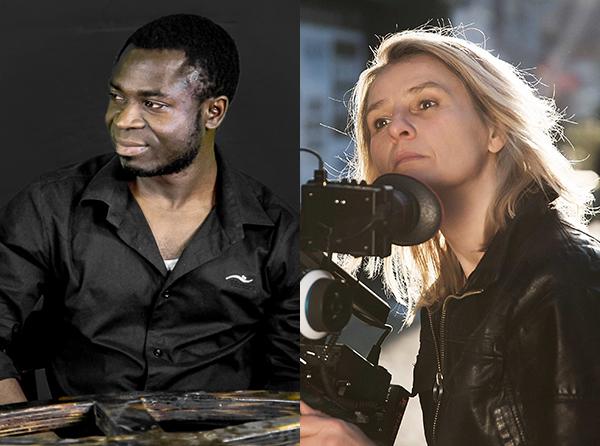 Mbuh Blaise Baneh & Susanne Dzeik. Foto: Harald Geil / Ras Adauto